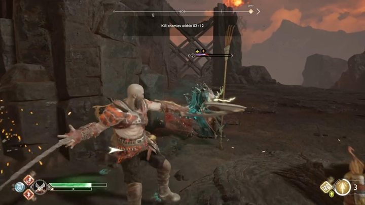 Цель: убить врагов до того, как закончится время - Muspelheim в God of War - God Of War - Game Guide