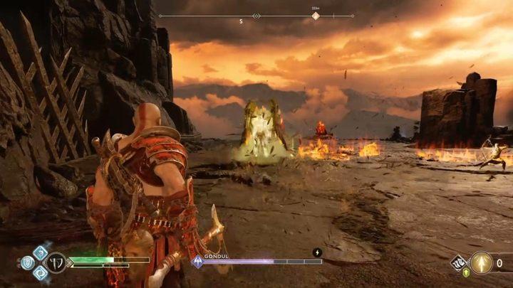 Расположение: Muspelheim, когда вы добираетесь до шестого меча - на вершине горы - Walkiry в God of War - God Of War - Game Guide и Walkthrough