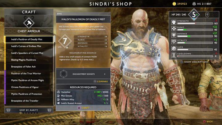 Где взять лучшее оборудование в God of War?