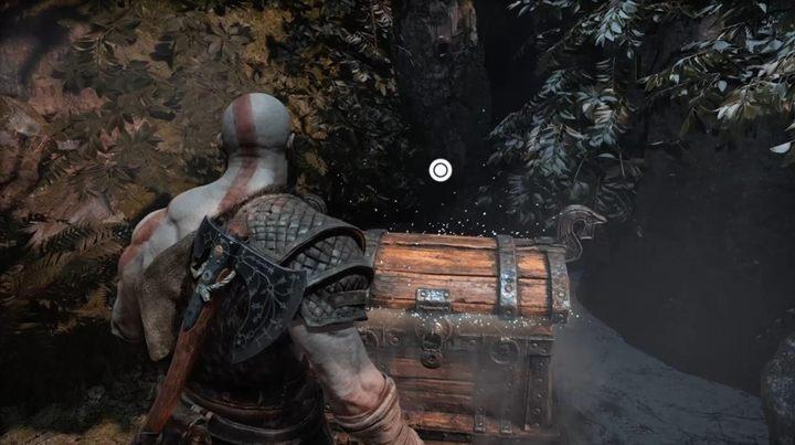 Это меньшая коробка, где вы найдете серебро.  - Маркированные деревья - Прохождение God Of War - God Of War Game Guide