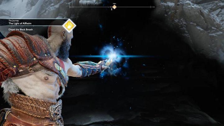 Gdy dotrzesz do czarnego tchnienia, skorzystaj ze światła, które zdobyłeś w Alfheim - Światło Alfheimu, solucja God of War - God Of War - poradnik do gry