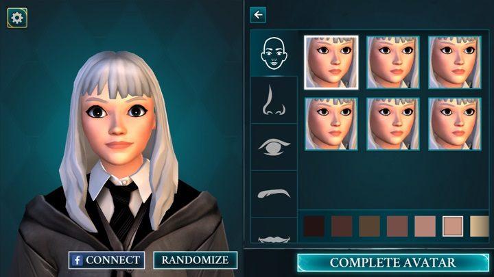 W Harry Potter: Hogwarts Mystery dostajesz możliwość dopasowania głowy swojego bohatera - Tworzenie postaci w Harry Potter i Tajemnica Hogwartu - Harry Potter i Tajemnica Hogwartu - poradnik do gry