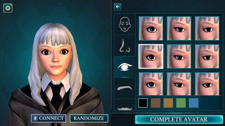 Możesz wybrać oczy swojej postaci spośród 9 przygotowanych przez twórców - Tworzenie postaci w Harry Potter i Tajemnica Hogwartu - Harry Potter i Tajemnica Hogwartu - poradnik do gry