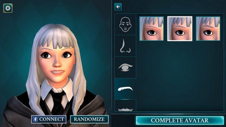 Kolejna zakładka to brwi znajdziesz tam 3 rodzaje brwi - Tworzenie postaci w Harry Potter i Tajemnica Hogwartu - Harry Potter i Tajemnica Hogwartu - poradnik do gry