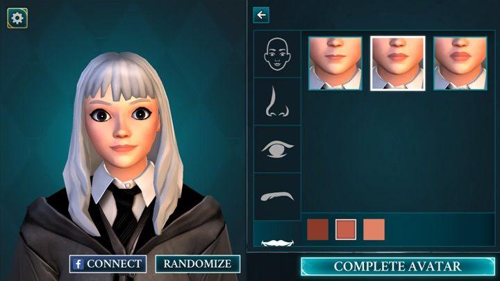 Usta wybierasz spośród przygotowanych 3 modeli - Tworzenie postaci w Harry Potter i Tajemnica Hogwartu - Harry Potter i Tajemnica Hogwartu - poradnik do gry