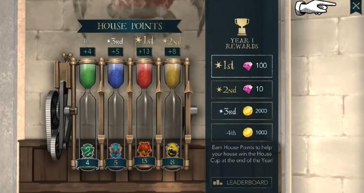 Punkty zdobywasz, aby awansować w rankingu domów - Punkty Domów w Harry Potter i Tajemnica Hogwartu - Harry Potter i Tajemnica Hogwartu - poradnik do gry