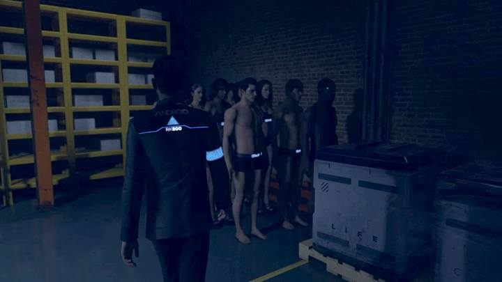Zbiegłego defekta znajdziesz między innymi, nieaktywnymi - Klub Eden | Connor | Solucja - Detroit Become Human - poradnik do gry