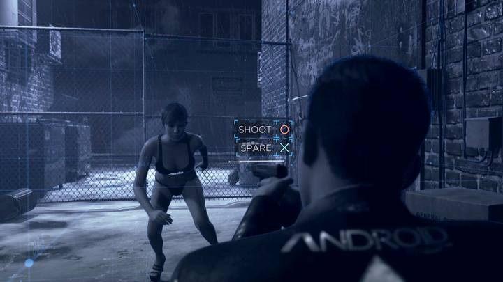 Najważniejsza scena, to dokończenie pościgu i decyzja o zabiciu / oszczędzeniu androida - Klub Eden | Connor | Solucja - Detroit Become Human - poradnik do gry