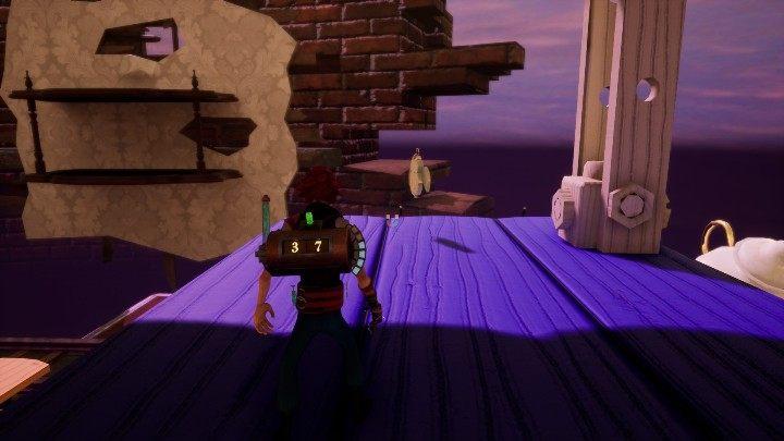 Podróżując po trzecim levelu trafisz na fioletowe platformy - Znajdźki, listy i zegarki | Porady na start | The Watchmaker - The Watchmaker - poradnik do gry