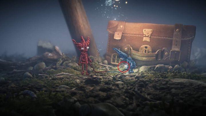 Pierwszy sekret dostępny w grze Unravel Two zdobędziesz podczas cutscenki - Sekrety w Foreign Shore and Hideaway - poziom 1 i 2 - Unravel 2 - poradnik do gry