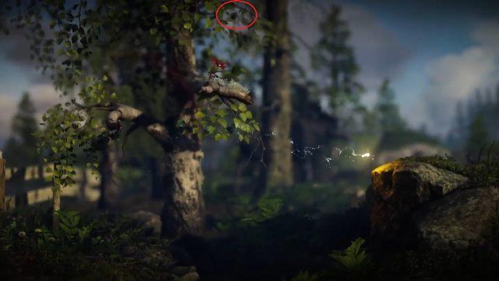 Kolejny sekret znajdziesz zaraz za płotem - Sekrety Little Frogs - poziom 3 Unravel 2 - Unravel 2 - poradnik do gry