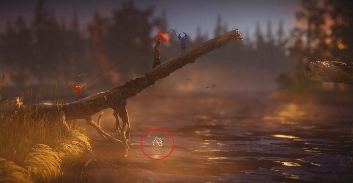 Czwarty sekret znajduje się na rzeką - Sekrety w Nightswimming poziom 4 Unravel 2 - Unravel 2 - poradnik do gry