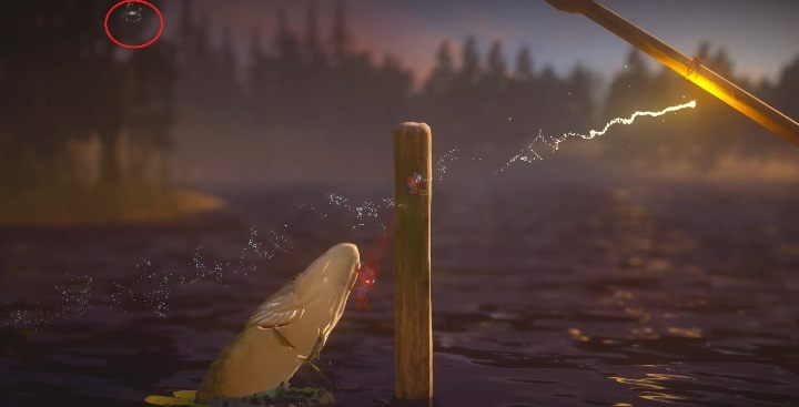 Przechodząc dalej przez wodę trafisz na pale - Sekrety w Nightswimming poziom 4 Unravel 2 - Unravel 2 - poradnik do gry
