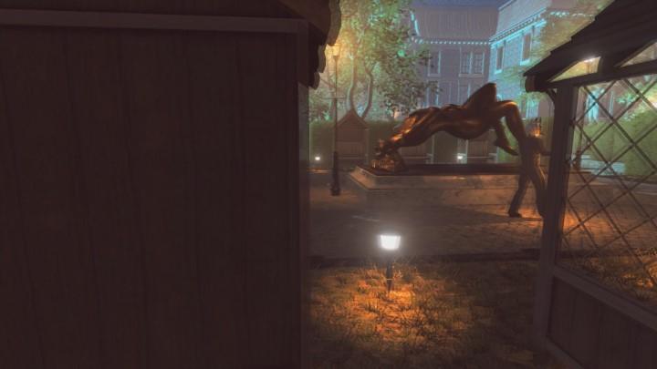 Trafisz do miejsca widocznego na powyższym obrazku - Ogród posiadłości Yelvertonów - solucja Lust for Darkness - Lust for Darkness - poradnik do gry
