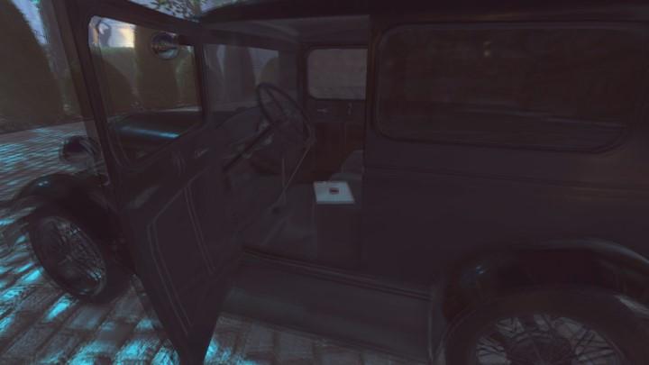 Zaproszenie do posiadłości znajduje się w jednym z aut na parkingu, z którego rozpocząłeś eksploracje ogrodu - Ogród posiadłości Yelvertonów - solucja Lust for Darkness - Lust for Darkness - poradnik do gry