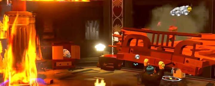 Jako Pan Iniemamocny podnieś zawalony fragment podłogi przy recepcji - Poziom 8 - Bohaterscy bohaterowie | Opis przejścia LEGO Iniemamocni - LEGO Iniemamocni - poradnik do gry