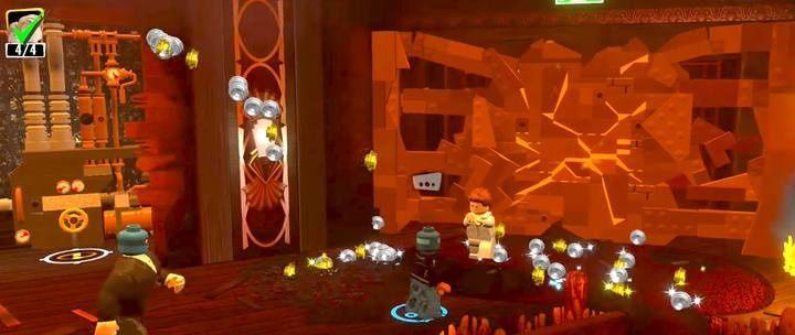 Aby zniszczyć naruszone ścianki nie atakuj ich, tylko wbiegnij w nie - Poziom 8 - Bohaterscy bohaterowie | Opis przejścia LEGO Iniemamocni - LEGO Iniemamocni - poradnik do gry