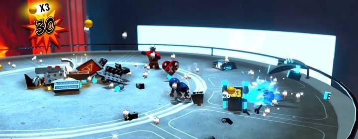 Musisz odwiedzić dwie strony bazy, do których dostęp uzyskasz poprzez budowę terminalu po jednej lub drugiej stronie - Poziom 10 - Powrót na Wyspę Nomanisan | Opis przejścia LEGO Iniemamocni - LEGO Iniemamocni - poradnik do gry