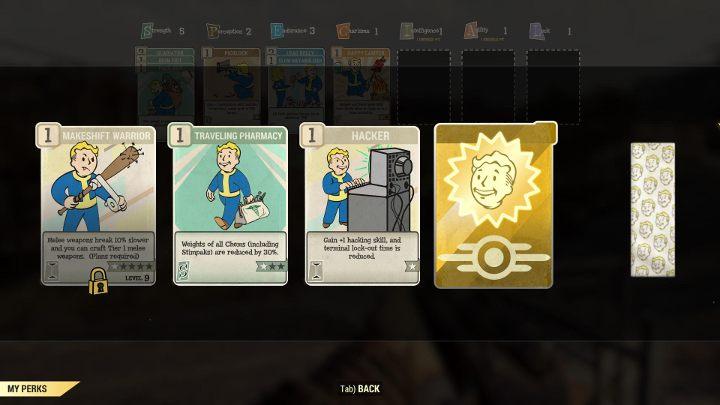 Co kilka poziomów postaci otrzymasz pakiet z czterema losowymi kartami perków. - Jak działają perki i jak je zdobywać w Fallout 76? - Fallout 76 - poradnik do gry