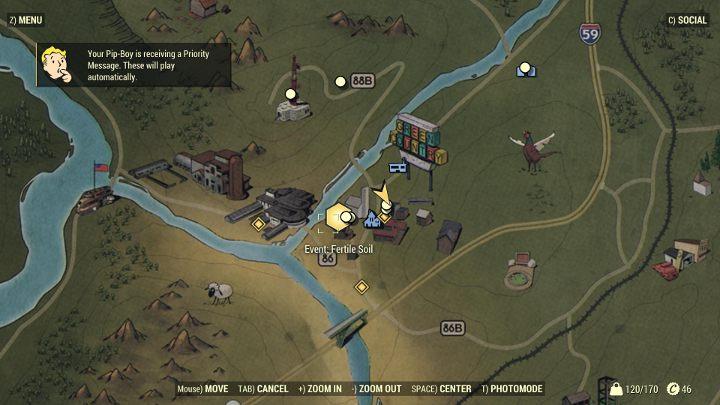 Wszystkie dostępne wydarzenia są oznaczone na mapie. - Czy w Fallout 76 są misje? - Fallout 76 - poradnik do gry