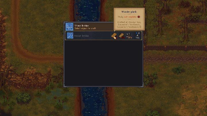 Aby dostać się do złóż żelaza w grze Graveyard Keeper musisz przedostać się na drugą stronę mostu - Jak i gdzie wydobywać żelazo w grze Graveyard Keeper? - Graveyard Keeper - poradnik do gry