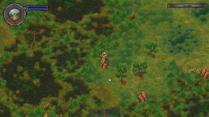 Po stworzeniu mostu możesz przejść na jego drugą stronę - Jak i gdzie wydobywać żelazo w grze Graveyard Keeper? - Graveyard Keeper - poradnik do gry