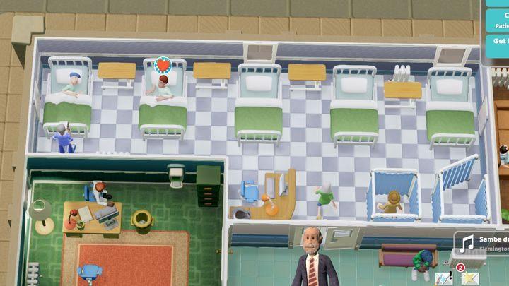 Jest to pomieszczenie jak i diagnostyczne jak i lecznicze - Gabinety i pomieszczenia w Two Point Hospital - Two Point Hospital - poradnik do gry