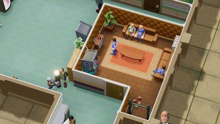 To miejsce, w którym twoi pracownicy mogą odpocząć od pracy - Gabinety i pomieszczenia w Two Point Hospital - Two Point Hospital - poradnik do gry