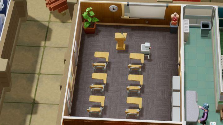 To pomieszczenie, w którym odbywają się szkolenia twoich pracowników - Gabinety i pomieszczenia w Two Point Hospital - Two Point Hospital - poradnik do gry