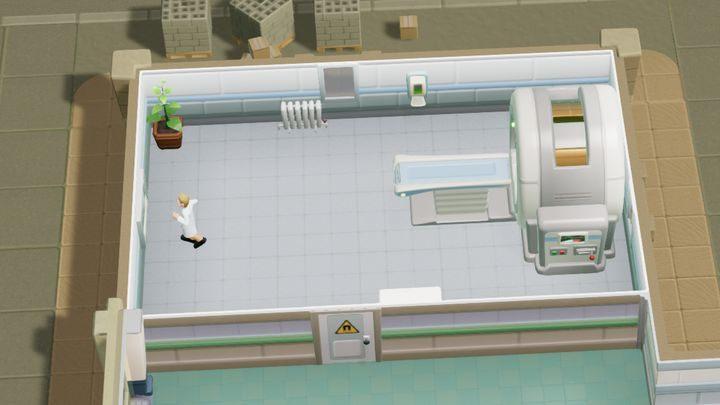 Jest to niezwykle popularne pomieszczenie diagnostyczne, w którym wykorzystywany jest tomograf - Gabinety i pomieszczenia w Two Point Hospital - Two Point Hospital - poradnik do gry