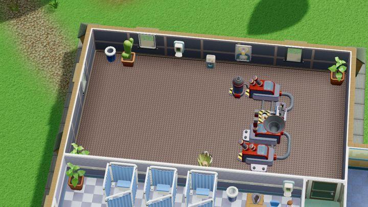 Pomieszczenie służy wyłącznie do leczenia garnkowca srebrzystego - Gabinety i pomieszczenia w Two Point Hospital - Two Point Hospital - poradnik do gry