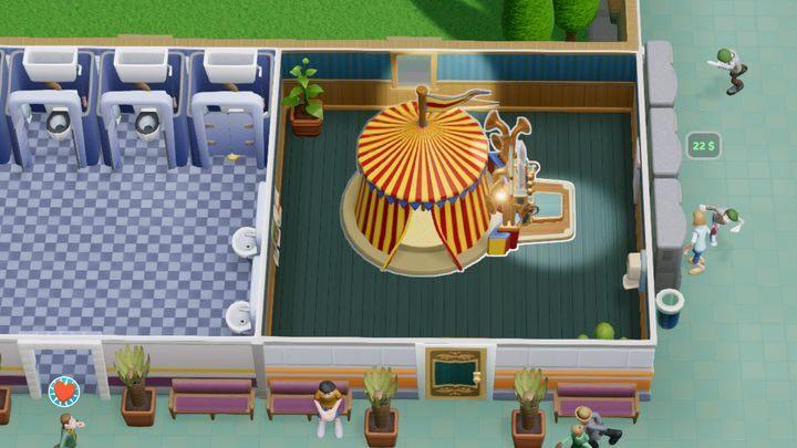 Pomieszczenie przeznaczone do leczenia sucharozy - Gabinety i pomieszczenia w Two Point Hospital - Two Point Hospital - poradnik do gry