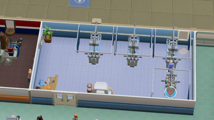 Oddział ortopedyczny służy do leczenia wszelakiej maści złamań - Gabinety i pomieszczenia w Two Point Hospital - Two Point Hospital - poradnik do gry