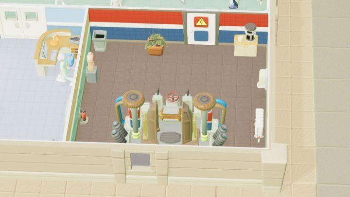 Pomieszczenie, które możesz odblokować na drodze badań w Melt Downs - Gabinety i pomieszczenia w Two Point Hospital - Two Point Hospital - poradnik do gry