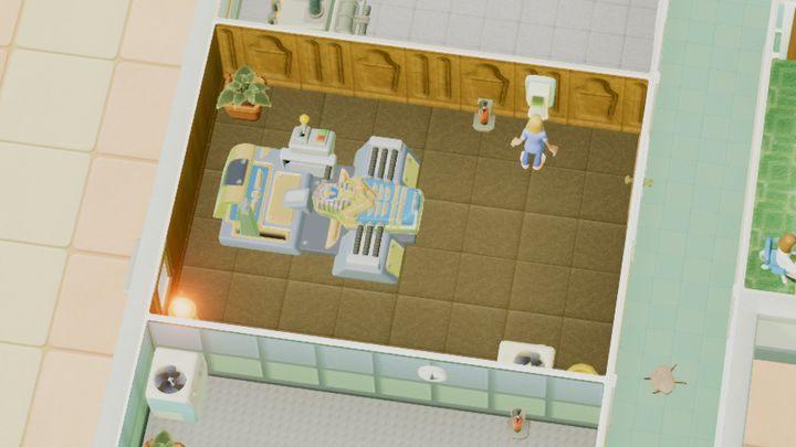 Ten oddział służy do leczenia zespoły przedwczesnej mumifikacji - Gabinety i pomieszczenia w Two Point Hospital - Two Point Hospital - poradnik do gry