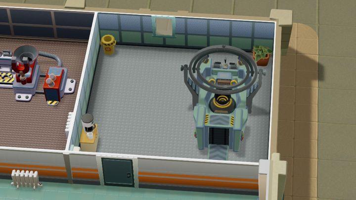 W tym pomieszczeniu leczone jest żółwiogłowie - Gabinety i pomieszczenia w Two Point Hospital - Two Point Hospital - poradnik do gry