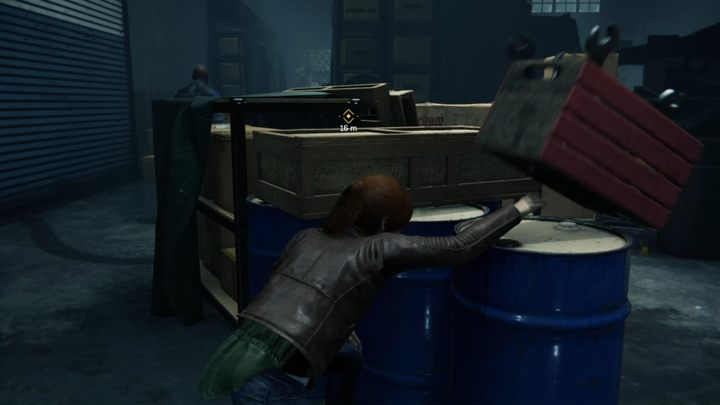 Zrzuć skrzynkę z narzędziami i miń przeciwnika z lewej strony - Randka - Solucja Marvels Spider-Man - Marvels Spider-Man - poradnik do gry