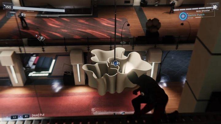 W końcu, dotrzesz do sali w której przetrzymywany jest uczony - Z deszczu pod rynnę... - Solucja Marvels Spider-Man - Marvels Spider-Man - poradnik do gry