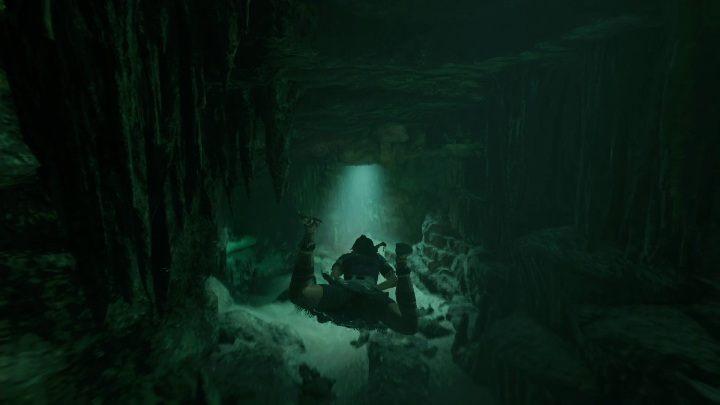 Aby dostać się do wnętrza grobowca musisz przepłynąć ścieżkę pod wodą - Grobowce wyzwań w Cenote - Shadow of the Tomb Raider - poradnik do gry