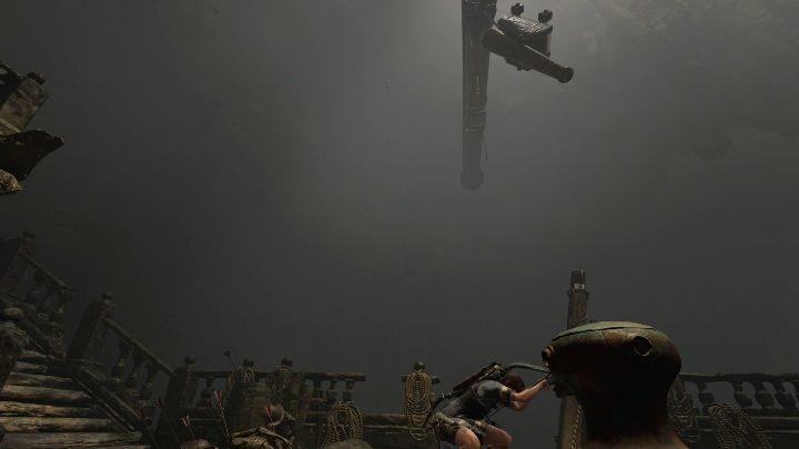Na górze statku znajdziesz element poruszający jednym z elementów masztu - Grobowce wyzwań w Cenote - Shadow of the Tomb Raider - poradnik do gry