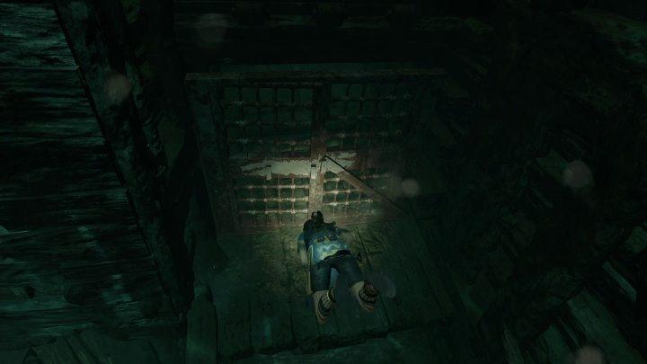 Twoim kolejnym ruchem będzie zanurkowanie w wodzie i otworzenie przejścia do drugiej części statku - Grobowce wyzwań w Cenote - Shadow of the Tomb Raider - poradnik do gry