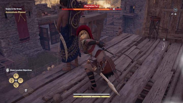 W końcu dotrzesz do swojego celu - niestety, okaże się, że to podstawiony człowiek - Strzeż się węży - Solucja gry Assassins Creed Odyssey - Assassins Creed Odyssey - poradnik do gry