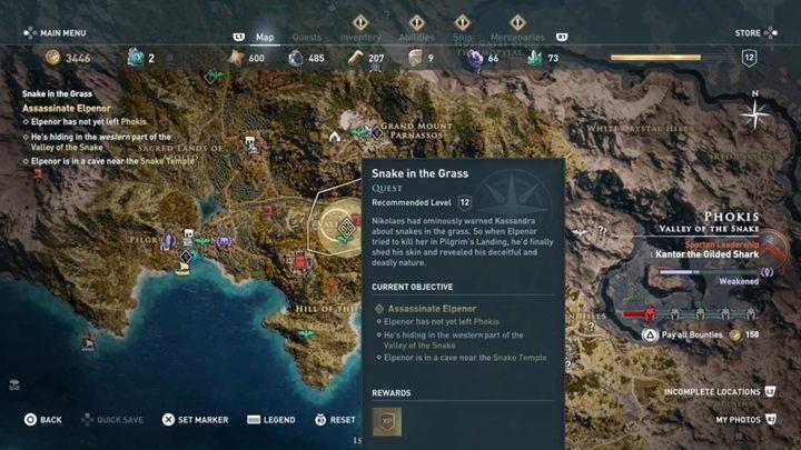 Musisz udać się do Doliny Węża i udać się do jaskini - Strzeż się węży - Solucja gry Assassins Creed Odyssey - Assassins Creed Odyssey - poradnik do gry