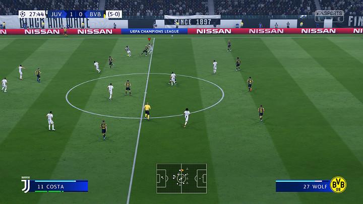 Kontrolowanie środka pola jest niezwykle istotną sprawą w grze FIFA 19 ponieważ jest to strategiczny punkt boiska - Atak i kontra w FIFA 19 - FIFA 19 - poradnik do gry