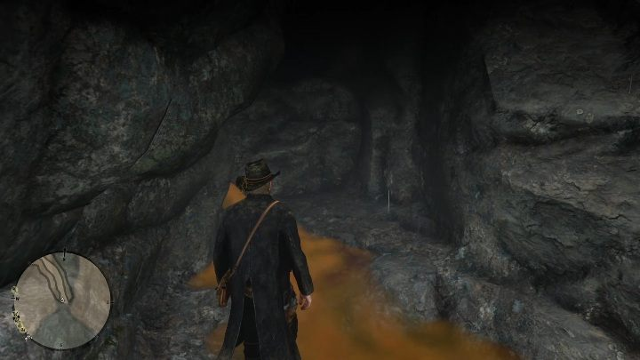Jaskinia ukryta jest pod wodospadem - Skażony szlak - The Poisonous Trail Treasure Hunt - Sekrety i znajdźki RDR2 - Red Dead Redemption 2 - poradnik do gry