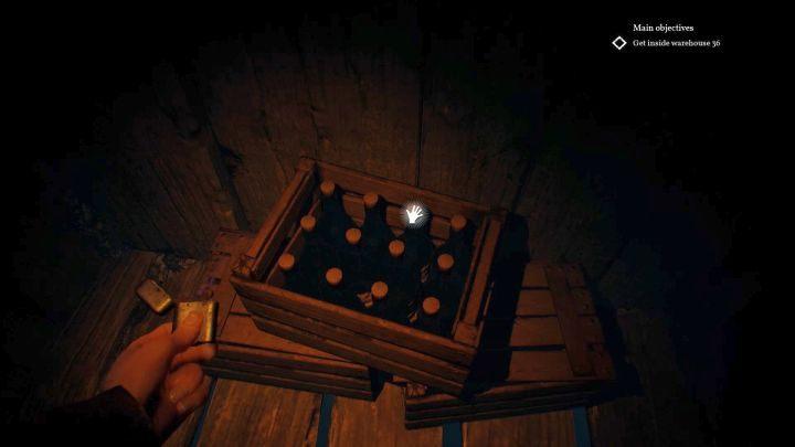 W tej skrzyni znajdziesz poszukiwany alkohol. - Skąd wziąć alkohol w Darkwater w Call of Cthulhu? - Call of Cthulhu - poradnik do gry
