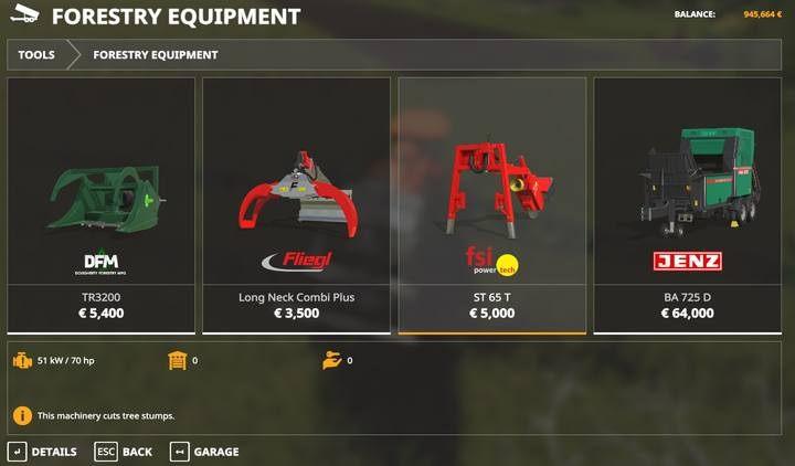 ST 65 T - Jak usuwać pnie i krzewy w Farming Simulator 19? - Farming Simulator 19 - poradnik do gry