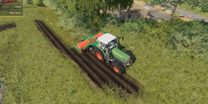 Aby ten fragment stał się na nowo pasmem trawy, użyj walca - Meadow Roller Vario, w kategorii sklepu Inne - Jak usuwać pnie i krzewy w Farming Simulator 19? - Farming Simulator 19 - poradnik do gry