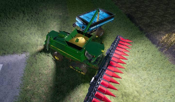 Dzięki temu rozwiązaniu możesz wozić za kombajnem łatwą do rozładowania przyczepkę o dużych pojemnościach. - Jak zwiększyć pojemność kombajnu zbożowego w Farming Simulator 19? - Farming Simulator 19 - poradnik do gry