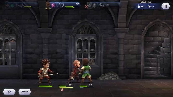 Jeśli przeciwnicy znajdują się po jednej stronie bohatera możesz z nimi na spokojnie walczyć - Walka z grupą przeciwników w Assassins Creed Rebellion - Assassins Creed Rebellion - poradnik do gry